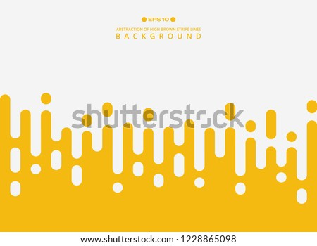 Abstract of fresh yellow color stripe lines pattern background, vector eps10 #1228865098