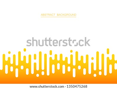 Abstract of fresh yellow color stripe lines pattern background, vector illustration #1350475268