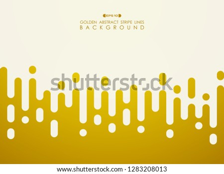 Abstract of golden stripe line pattern with white space background, vector eps10 #1283208013
