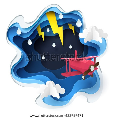 abstract of red plane flying