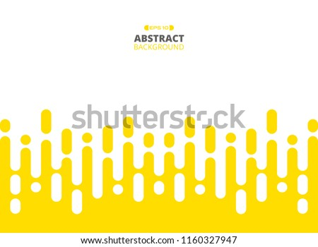 Abstract of yellow color stripe patterns background, Illustration vector eps10 #1160327947