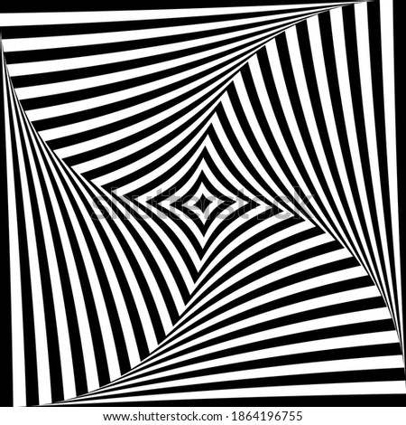 Abstract op art design. Whirl twisting movement illusion. Vector illustration. Stock photo ©