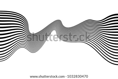 abstract op art wave #1032830470