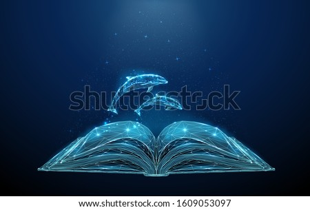 abstract open book with jumping