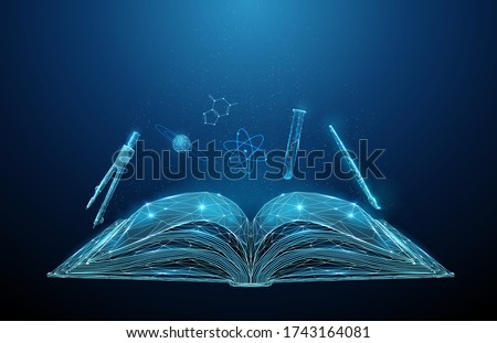 abstract open schoolbook with