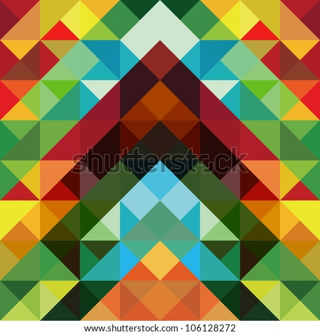 Abstract optic effect colorful triangle pattern background. Vector file layered for easy manipulation and coloring.