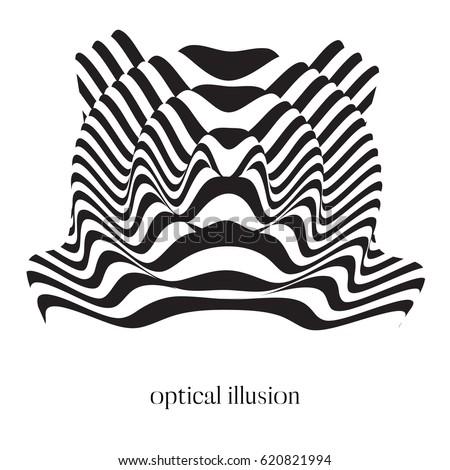 abstract optical illusion
