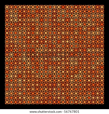 Abstract orange and black geometric vector background