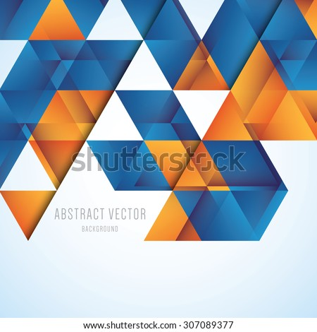 stock-vector-abstract-orange-and-blue-triangles-vector-background