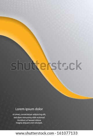 abstract orange and gray waves