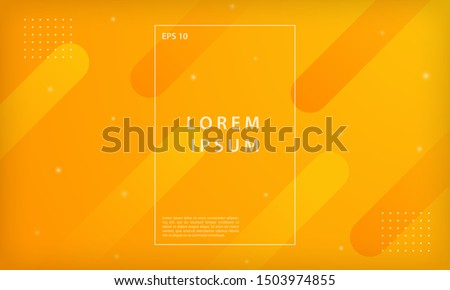 Abstract orange and yellow gradient geometric shapes background. Modern minimal vector design template.