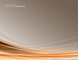 Abstract orange background with curved lines.
