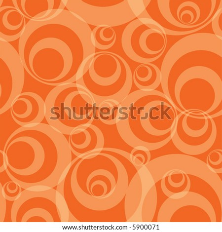 Abstract orange circles - funky seamless vector background