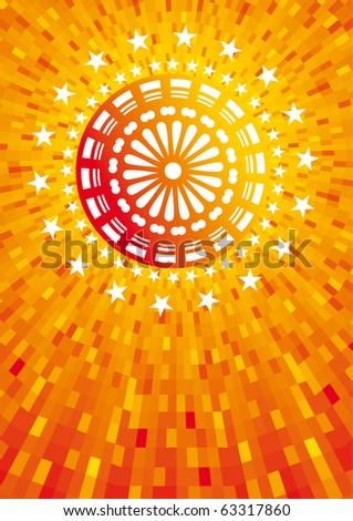 abstract orange fireworks