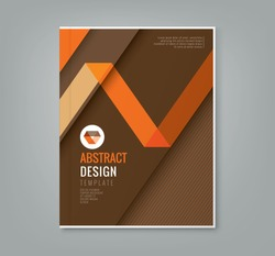 abstract orange line design on brown background template for business annual report book cover brochure flyer poster