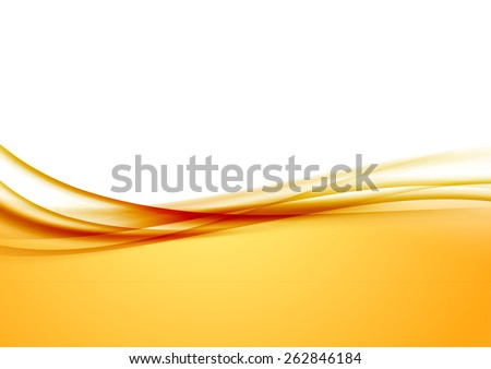 abstract orange swoosh satin