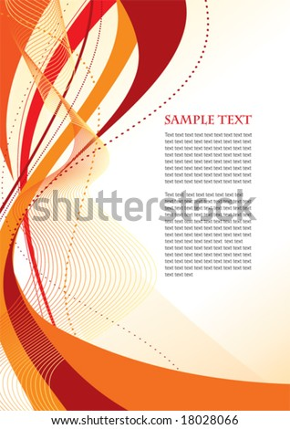 Abstract orange template