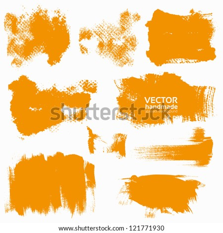 abstract orange vector set