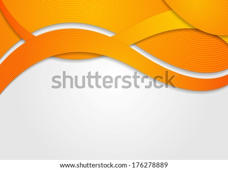 abstract orange waves vector
