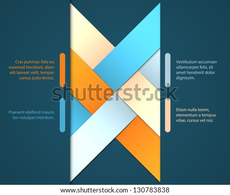 Abstract origami background. EPS10 vector.