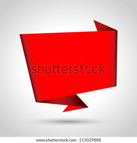 Abstract origami speech bubble vector background. Eps 10