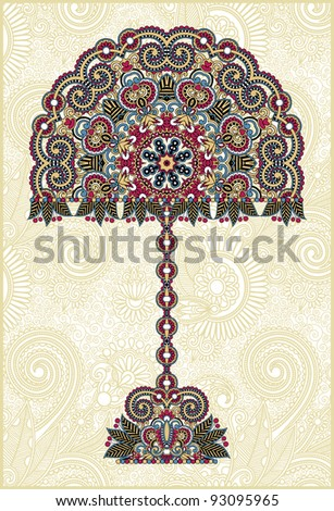 abstract ornamental floral tree