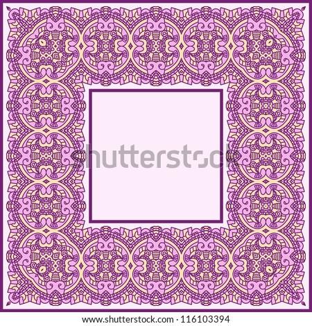 Abstract ornamental frame, elegant vintage label, vector illustration