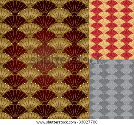 Abstract ornamental pattern with orient elements. Vector format