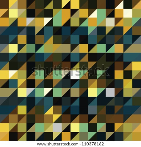 Stock Photo Abstract ornate colorful pixels background. Seamless pattern. Vector.