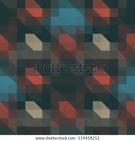Stock Photo Abstract ornate pixels illusion. Seamless pattern. Vector.