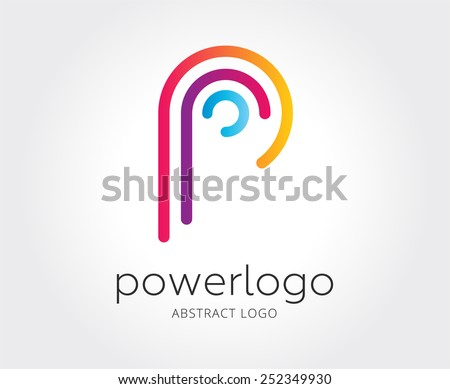 abstract p logo template for