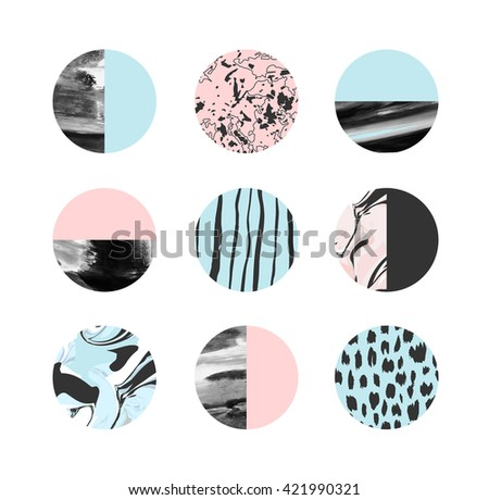 abstract painting circles with