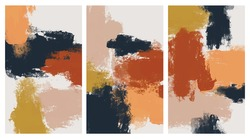 Abstract painting with ground colors for background. Creative background in minimal style using brushes stroke. Design templates for social media, template, poster, invitation, card design and more