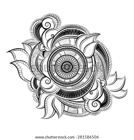 abstract paisley ornament