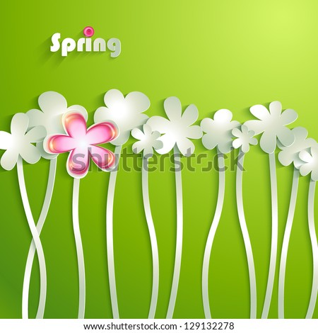 Abstract paper Flowers