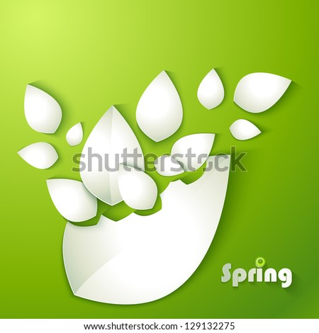 Abstract paper leaves - stock vector