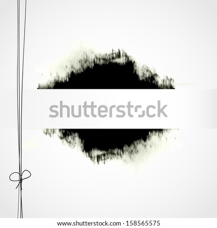 Abstract  paper note background with ink spot and place for your text