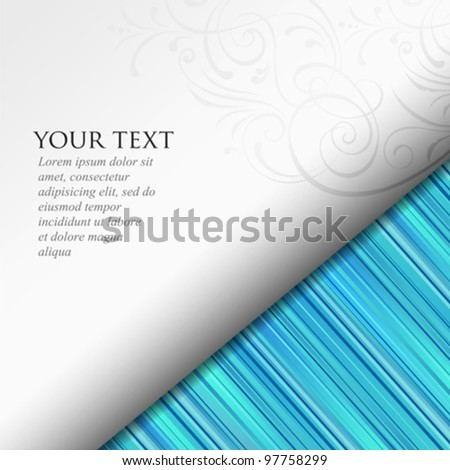 Abstract. paper roll on blue background, vector illustration