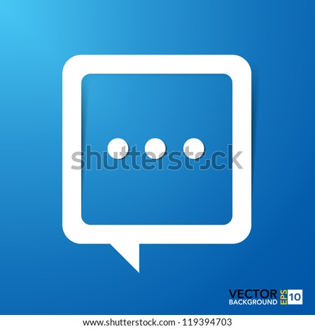 Abstract paper speech bubble background.Illustration