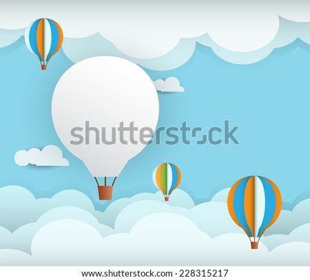 abstract paper with white cloud