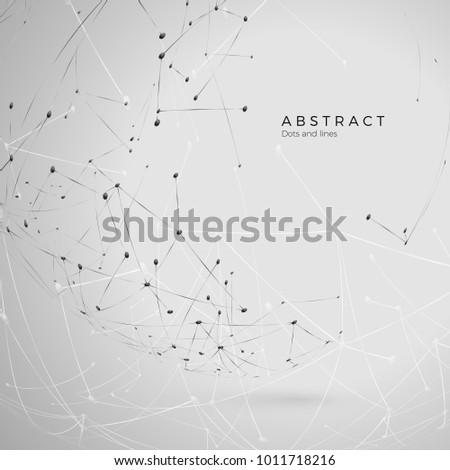 Abstract particle background. Futuristic plexus array big data. Atomic and molecular pattern. Vector illustration