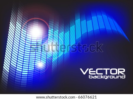 Abstract Party Background - Blue Equalizer