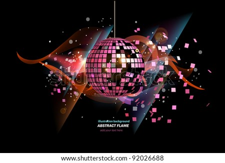 Abstract party background with disco ball