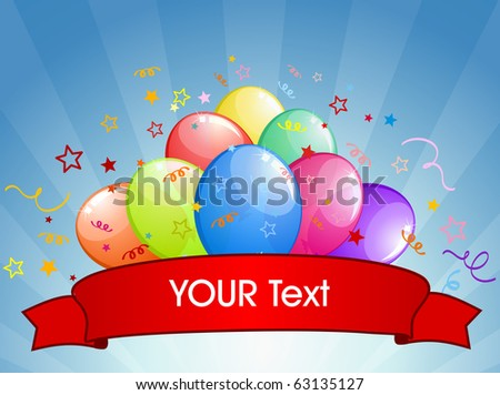 abstract party balloons with space for text - vector illustration.