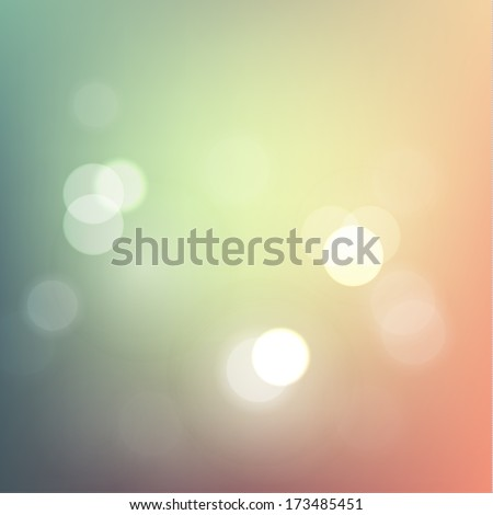 Abstract pastel defocused lights background eps10 vector