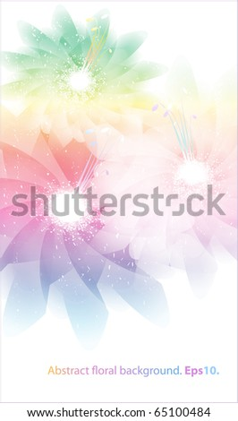 Abstract pastel floral background. Eps10.