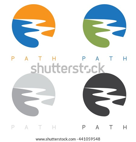 abstract path or river labels
