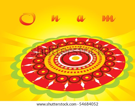 abstract pattern background for onam, vector illustration