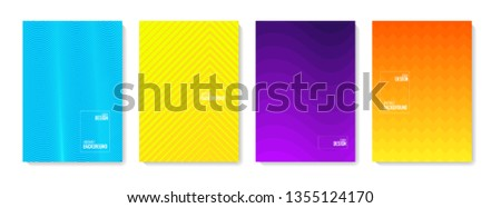 Abstract pattern background. Set of color abstract shapes, abstract design background. Abstract vector gradient elements for logo, banner, post, vector illustration  #1355124170
