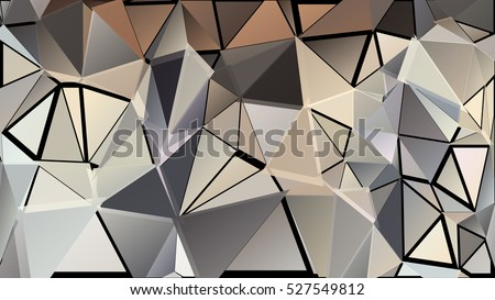 Abstract pattern consisting of randomly distributed triangles of different sizes and colors